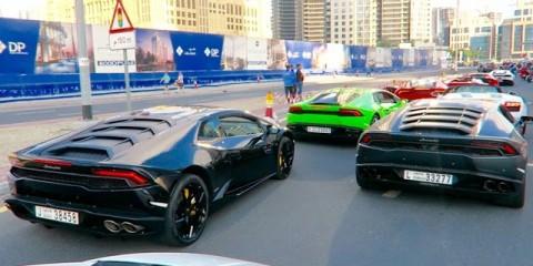 Crazy Lamborghini EVENT in Dubai INSANE REVVING !!